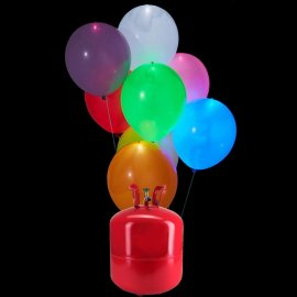Bouteille Helium Grande avec 50 ballons Led