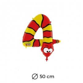 Ballon Serpent Numéro 4 en Mylar 50cm
