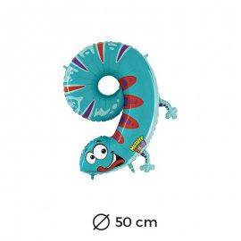 Ballon Salamandre Numéro 9 en Mylar 50cm