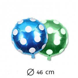 Ballon Rond à Pois en Mylar 46cm