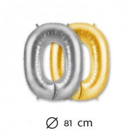 Ballon Numéro 0 en Mylar 81cm