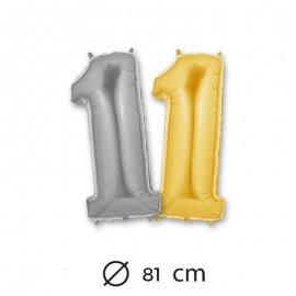 Ballon Numéro 1 en Mylar 81cm