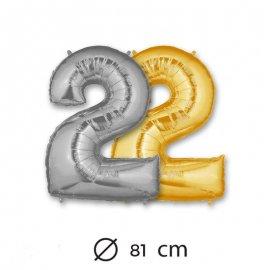 Ballon Numéro 2 en Mylar 81cm