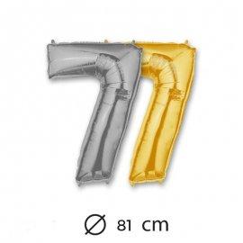 Ballon Numéro 7 en Mylar 81cm