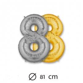 Ballon Numéro 8 en Mylar 81cm