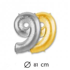 Ballon Numéro 9 en Mylar 81cm