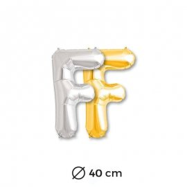 Ballon Lettre F en Mylar 40cm