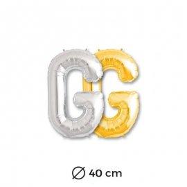 Ballon Lettre G en Mylar 40cm