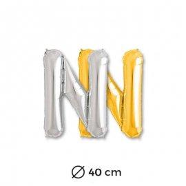 Ballon Lettre N en Mylar 40cm