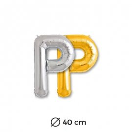 Ballon Lettre P en Mylar 40cm
