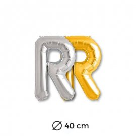 Ballon Lettre R en Mylar 40cm