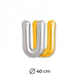 Ballon Lettre U en Mylar 40cm