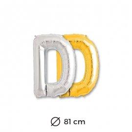 Globo Letra D Foil 81 cm