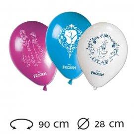 8 Ballons de 28 cm Reine des Neiges