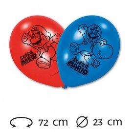 6 Ballons 23 cm Super Mario