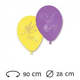 8 Ballons 28 cm Fée Clochette
