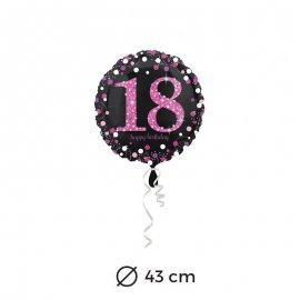 Ballon Chic Rose 18 ans 43 cm