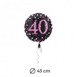 Ballon Chic Rose 40 ans 43 cm