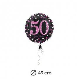 Ballon Chic Rose 50 ans 43 cm