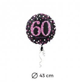 Ballon Chic Rose 60 ans 43 cm