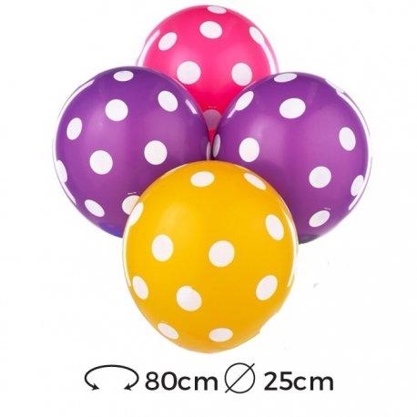 Ballons à Pois Latex 25 cm