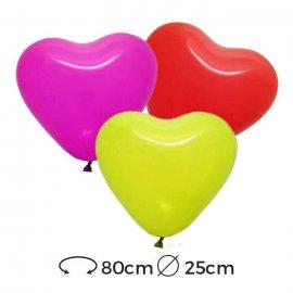 Ballons Coeurs Latex 25 cm