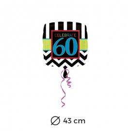 Ballon 60 ans Chevron 43 cm
