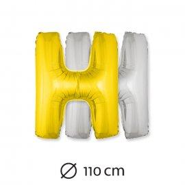 Globo Letra H Foil 110 cm