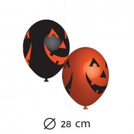6 Ballons Latex Tête Citrouille