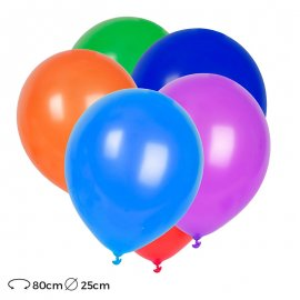 Ballons de Baudruche Ronds Latex 25cm