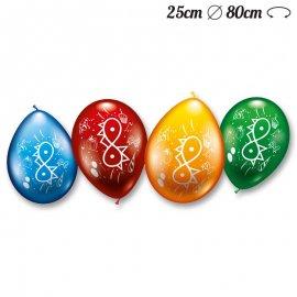 Ballons Numéro 6 Ronds M02 25 cm