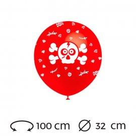 Ballons Tête de Pirate 32 cm