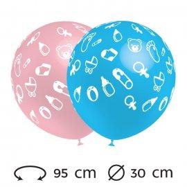 Ballons Bébé Ronds 30 cm