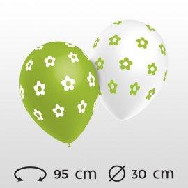 Ballons Fleurs Ronds 30 cm