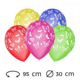Ballons Papillon M02 Ronds 30 cm