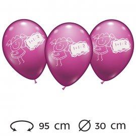 Ballons Maths pour Filles 30 cm