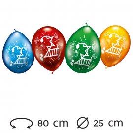 Ballons Numéro 2 Ronds M02 25 cm
