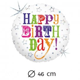Ballon de Birthday Mylar 46 cm