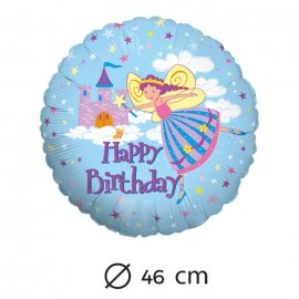 Ballon Happy Birthday Fée Mylar 46 cm