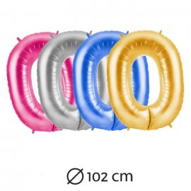 Ballon Chiffre 0 Mylar 102 cm