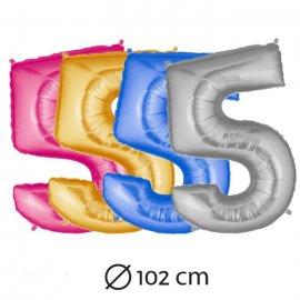 Ballon Chiffre 5 fait en Mylar 102 cm