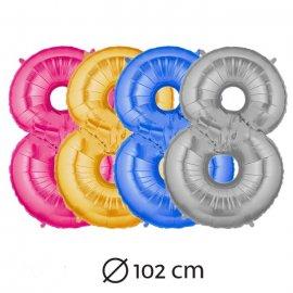 Ballon n 8 Mylar 102 cm
