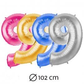 Chiffre 9 en mylar 102 cm