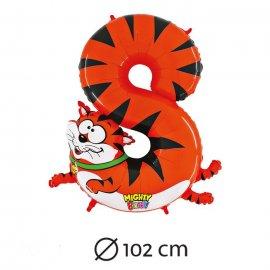 Ballon Forme 8 Tigre Mylar 102 cm