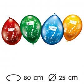 Ballons Numéro 7 Ronds M02 25 cm