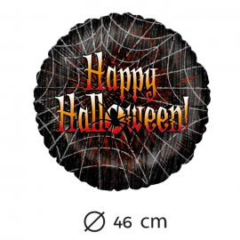 Ballon Happy Halloween Toiles d'Araignées 46 cm