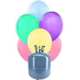 Bonbonne Helium Petite avec 30 ballons de Baudruche