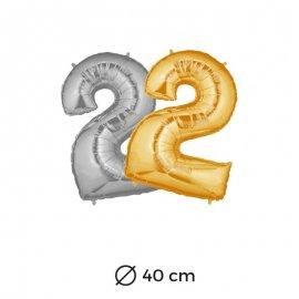 Ballon 2 Mylar 40 cm