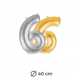 Ballon Nº6 Mylar 40cm