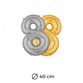 Ballon Chiffre 8 Mylar 40cm
